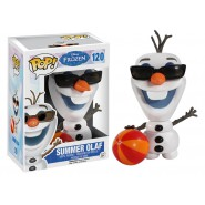 Disney FROZEN Figura SUMMER OLAF 10cm POP 120 Originale FUNKO NEW Estate Vinyl