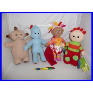 SET 4 Plushies 25cm IN THE NIGHT GARDEN Original Makka PAKKA Iggle Upsy