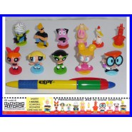 COMPLETE SET 11 Figure2 CARTOON NETWORK Original COURAGE COWARDLY DOG POWERPUFF GIRLS etc.