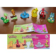 Stupendo SET 6 Figure POKEMON BUILDABLE Deoxys Pikachu Torchic Mudkip RARE Tomy