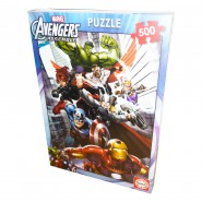 PUZZLE 500 Pezzi AVENGERS ASSEMBLE Ufficiale 49x36cm Marvel Jigsaw NUOVO New