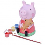 PEPPA PIG Figura SALVADANAIO in ceramica DA COLORARE