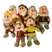 ALL 7 DWARFES Snow White COMPLETE SET 7 Plushies 25cm Original DISNEY