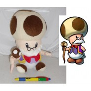 Plush OLD MAGISTER TOAD 25cm Super MARIO Bros Kart Land Wii
