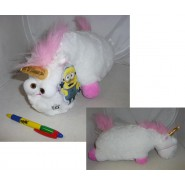 PLUSH 40cm UNICORNO FLUFFY White and Rose