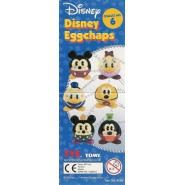 Complete SET 6 Figures DISNEY EGGCHAPS Dangler DONALD Daisy Goofy Pluto Mickey Minnie TOMY