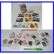 RARO Set 10 Trading Figures ONE PIECE 2008 Figure ORIGINALI BANDAI JAPAN Nuove