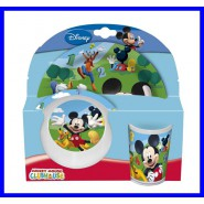 MICKEY MOUSE CLUBHOUSE Topolino SET KIT PASTO PAPPA Colazione DISNEY ORIGINALE