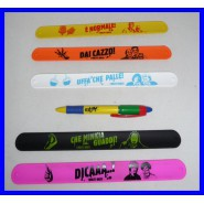 Set 5 Braccialetti SLAP BRACELETS de I SOLITI IDIOTI Cool Things ORIGINALI NUOVI