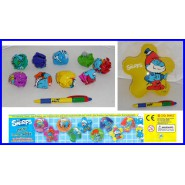 SERIE Set 9 Figure Collezione PUFFI GONFIABILI Cool Things SMURFS INFLATABLES !!