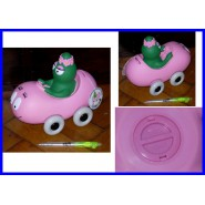 BARBAPAPA Nice PLASTIC MONEY BOX Car with BARBALALLA Original PLASTOYS