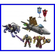 KIT Set BARRENS CHASE World Of Warcraft DIORAMA MEGA BLOKS Nuovo UFFICIALE ENTRA