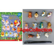TOMY Set 11 Figures WINNIE POOH PART 3 and 4 Mini Winnies Peek A Pooh Animal Wear