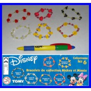 DISNEY MICKEY E MINNIE Set 6 BANDS Braccialetti Moda Bimbo ORIGINALI COOL THINGS
