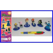 TOMY Set 6 Figures KIM POSSIBLE Rufus Ron Shego ORIGINAL Gashapon TOMY