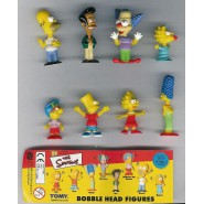SIMPSONS Raro SET 8 Figure BOBBLE HEAD PART 1 Tomy HOMER BART KRUSTY LISA MARGE
