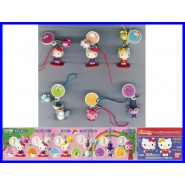 RARO Set 6 Figure HELLO KITTY FOREST DANGLERS Gashapon BANDAI JAPAN Laccetto NEW