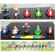 Stupendo RARO SET 10 Modellini MARIO KART Tomy PULL BACK Yoshi Luigi Peach JAPAN