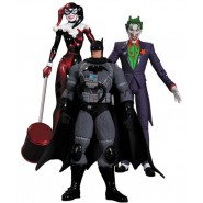 DC COLLECTIBLES Box 3 Figure Action HUSH 16cm BATMAN JOKER HARLEY QUINN Original