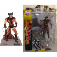 MARVEL SELECT Figura Diorama UNMASKED WOLVERINE 20cm ORIGINALE Diamond NUOVO NEW