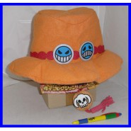 One Piece CAPPELLO di ACE PORTGAS Originale BANPRESTO Cosplay CARNEVALE Hat NEW
