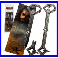 THE HOBBIT Penna e Segnalibro 3D THORIN'S KEY 17cm Noble Bookmark Lenticular NEW