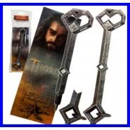THE HOBBIT Penna e Segnalibro 3D THORIN'S KEY 17cm Noble Bookmark Lenticular NEW