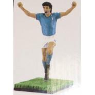 Figura RESINA Statua PAOLO ROSSI Calcio SCALA 1/9 Fanatico LIMITATA Italia NUOVA