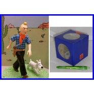 TINTIN Milou COWBOY FAR WEST Figura Diorama UFFICIALE Herge ORIGINALE Figure BOX