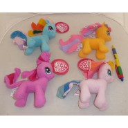 SET 4 Peluche MY LITTLE PONY 15cm ORIGINALI Rainbow Pinkie Twilight Fluttershy