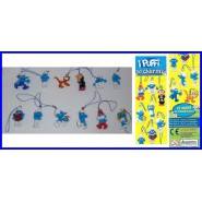 THE SMURFS Complete SET 12 FIGURES with DANGLERS Official Original