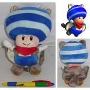 Plush Soft Toy TOAD Blue FLYING SQUIRREL 20cm SUPER MARIO Bros Kart Land Wii