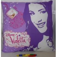 VIOLETTA CUSHION  Squared Violet 38x38cm Original DISNEY