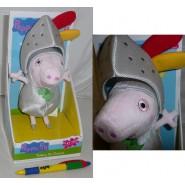 PEPPA PIG Peluche SIR GEORGE CAVALIERE Knight 23cm PARLANTE Box Originale NUOVO
