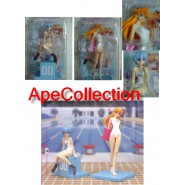 EVANGELION Coppia Figure REI e ASUKA Swimming Suit PISCINA Nuove SEGA Japan NEW