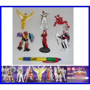 SET 6 Figures POWER RANGERS 10cm DINO THUNDER PART 2 Original Bandai GASHAPON SENTAI
