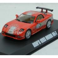 FAST FURIOUS Modellino Auto DOM's MAZDA RX-7 1993 Scala 1:43 DieCast GREENLIGHT