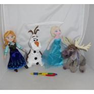 Frozen PELUCHE PARLANTE 20cm Scegli il tuo Elsa Olaf Sven ORIGINALE DISNEY