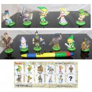Raro SET 11 Figure Collezione THE LEGEND OF ZELDA Furuta JAPAN Originali NUOVE