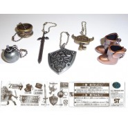 LEGEND OF ZELDA Raro SET 6 CIONDOLI Metallo METAL ITEMS Japan Gashapon