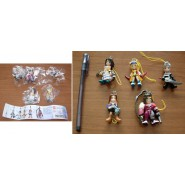 SET 5 Figures FINAL FANTASY 10 X SWING Danglers Bandai AURON YUNA RIKKU LENNE PAINE Rare