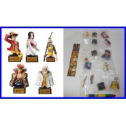 RARO SET 5 Figure BUSTI ONE PIECE Statues 01 BANDAI JAPAN Rufy Boa Kid Trafalgar