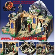 Kinder RARE German DIORAMA Scenery DAS TOR ZUM BERG Lord Of The rings Bastelbogen HERR DER RINGE