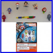 TOMY Set 7 FIGURE MARVEL CUTE SWING Danglers SPIDER MAN THOR CAP. AMERICA etcv