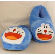 DORAEMON Plush PAIR OF SLIPPERS Soft UNIQUE ADULT SIZE