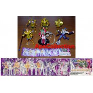 Bandai SET 6 FIGURE Gashapon SAINT SEIYA PART 3 Scorpio Libra Virgo Leo Ikki