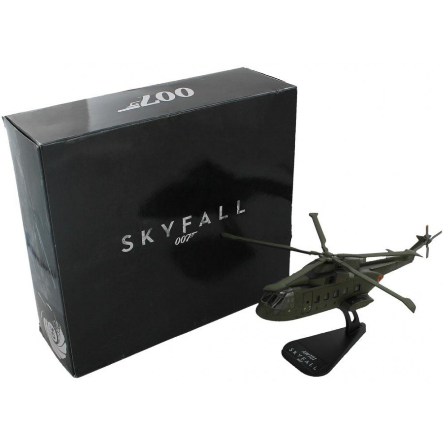 Elicottero 007 : 007 skyfall diecast model 1 100 helicopter augusta westland aw101