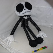 NIGHTMARE BEFORE CHRISTMAS Big XXL Plush JACK SKELLINGTON 65cm Skeletron