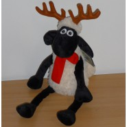 Peluche SHAUN THE SHEEP Pecora RENNA Natale 35cm ORIGINALE Ufficiale