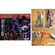 RARO Set 5 Figure EVANGELION ULTIMATE ACTION PART 1 Bandai Eva 01 02 Gashapon